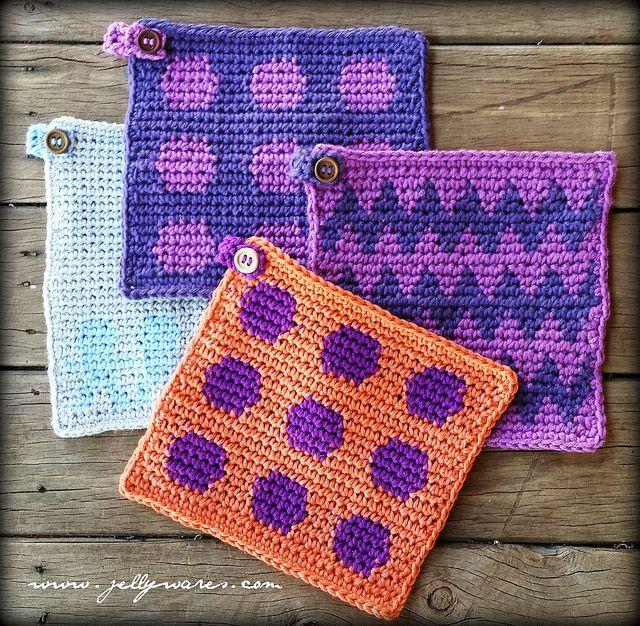 Crochet Tutorial : Tapestry Crochet - Tutorial paso a paso ..? Teresa Restegui http ...