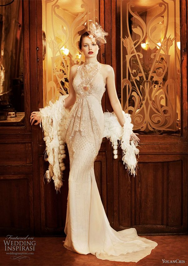 roaring 20s inspired wedding gown love francophile and