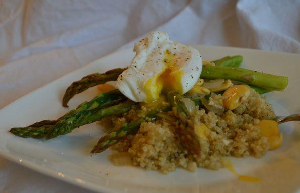 Savory Quinoa w/Asparagus & Poached Egg   Gluten Free Good Stuff   Pi ...