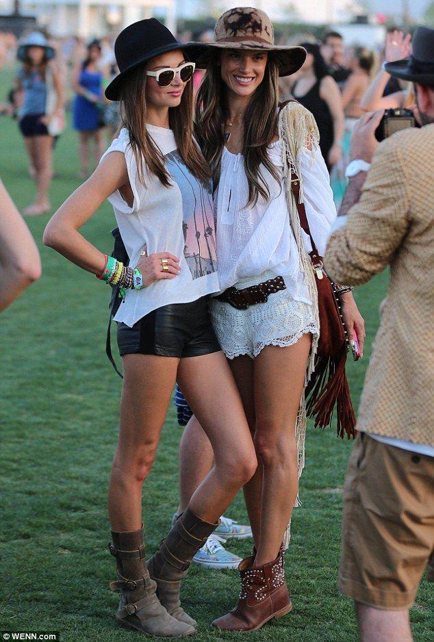 Alessandra Ambrosio  and Miranda Ker at Coachella Music Festival 2013