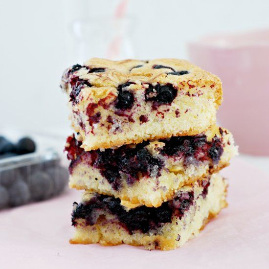 Blueberry White Chocolate Blondies Recipes — Dishmaps