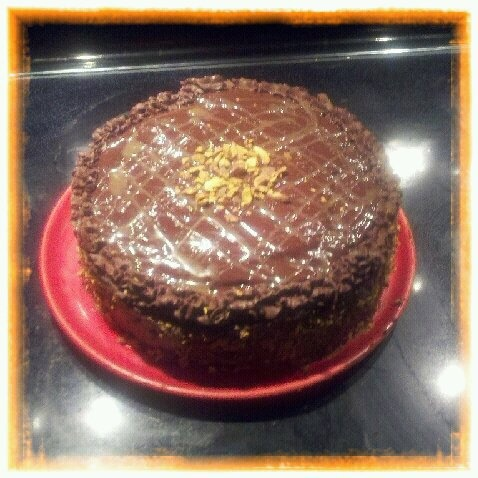 Chocolate Cake with Fleur de Sel Caramel Filling Made this for Michael ...