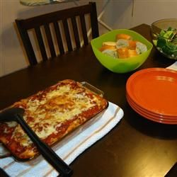 Three Cheese Baked Pasta Allrecipes.com