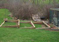 Raised beds on a slope #gardening