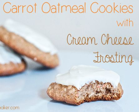 Carrot Oatmeal Cookies with Decadent Cream Cheese Frosting-made with ...