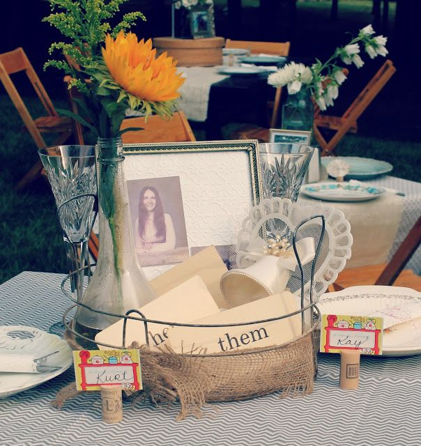 40th anniversary table decor reunion pinterest for 40th anniversary decoration ideas