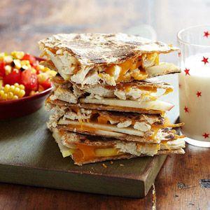 Apple Chicken Quesadilla with Tomato Corn Salsa | Recipe