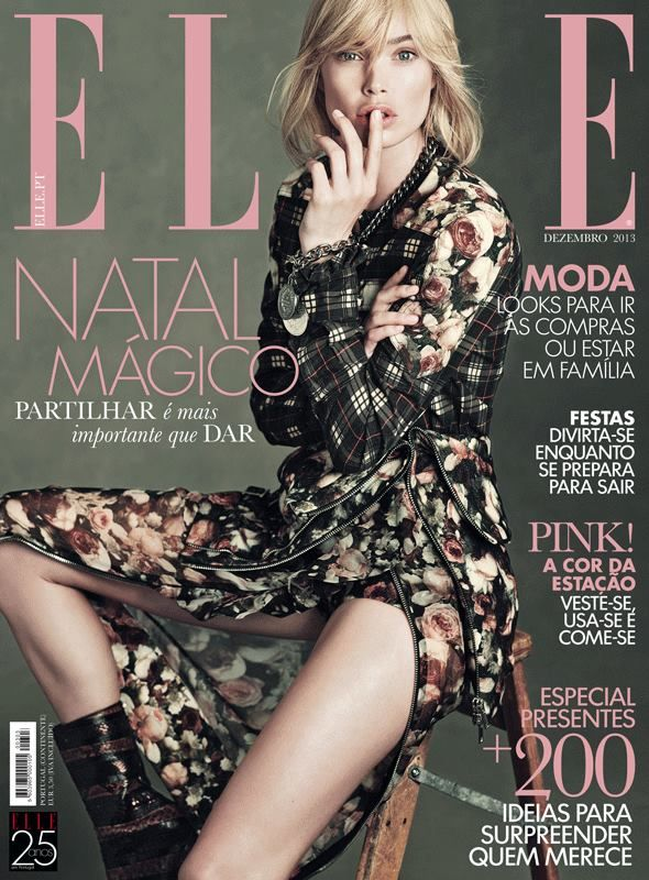 Elle Portugal December 2013 | Doutzen Kroes by Thomas Whiteside