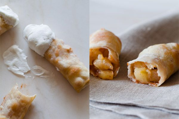 Baked Apple Pie Egg Rolls  Makes 16