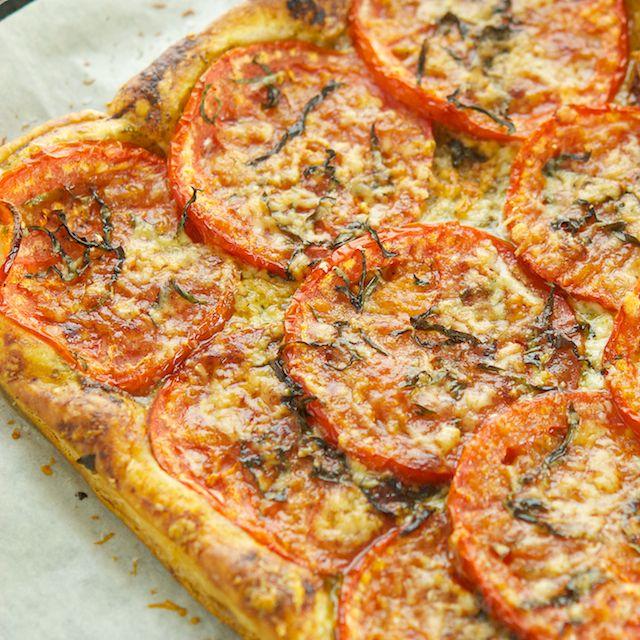 Tomato and Basil Tart - Oui, Chef | Recipes! | Pinterest