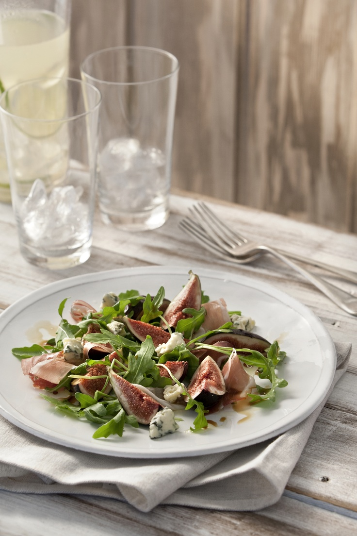 Figs in season! - fig salad with prosciutto & blue cheese