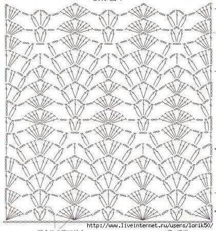 Вязание крючком узор для туники 205
