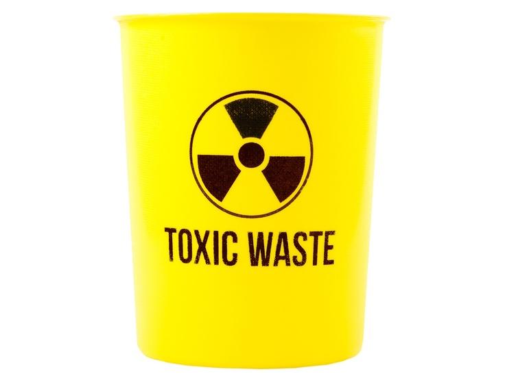 Yellow Toxic Waste Rubbish Plastic Bin