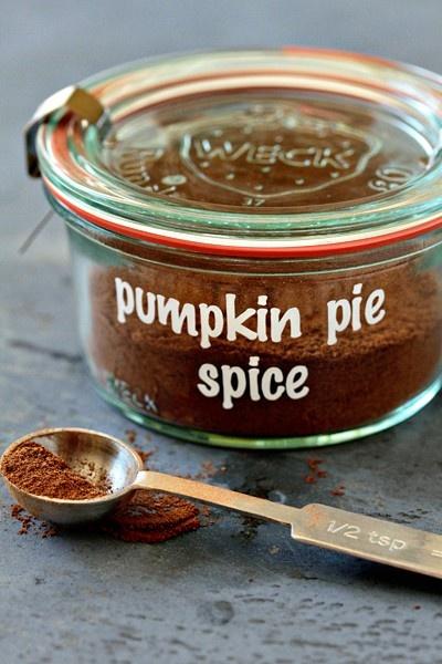Homemade Pumpkin Pie Spice 2 tablespoons ground cinnamon 3 teaspoons ...
