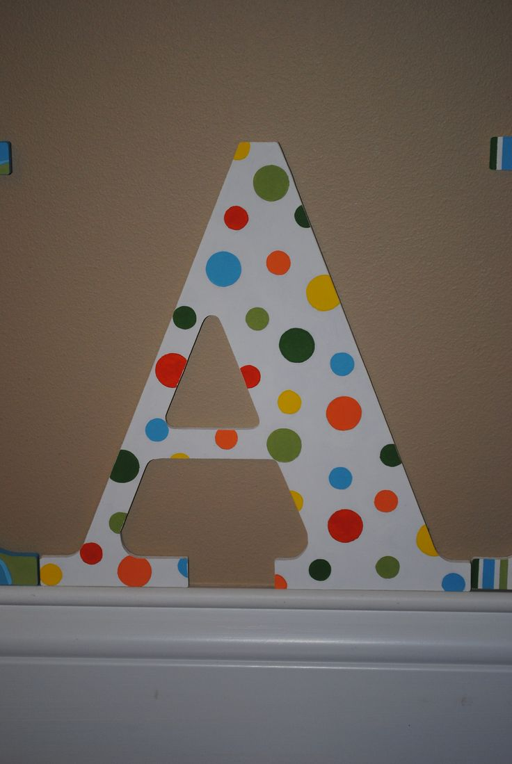 Decorative Wall Letters Pinterest : Decorative wall letters polka dots