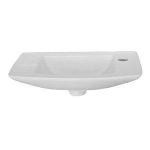 Not-boxy wall-mounted narrow sink. Casa Bonita Pinterest