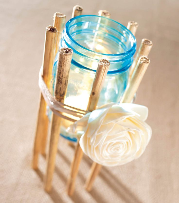 Cute idea for a candle holder using a Heritage Collection Jar!