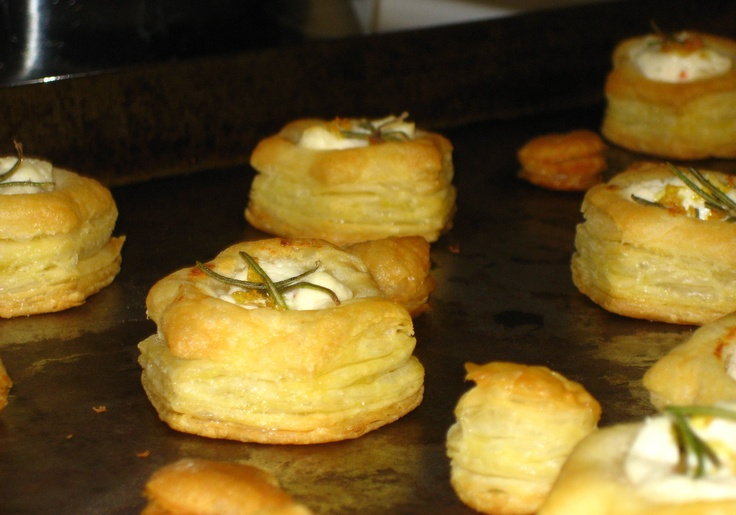 Puff Pastry Goat Cheese Bites with Rosemary and Lemon