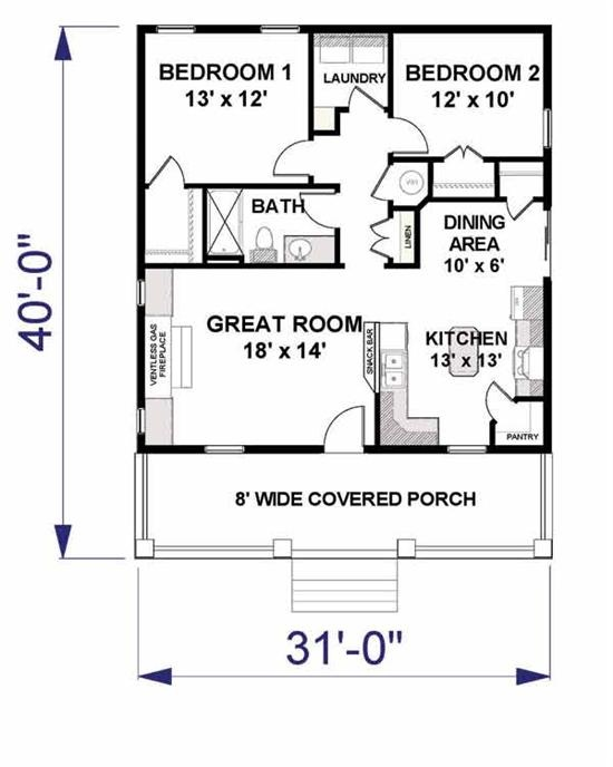 compact floor plan, good for a cabin? | LIVING SMALL | Pinterest