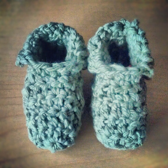 Hand crochet baby booties--only $14.99! Available exclusively via www.etsy.com/shop/GJ Project