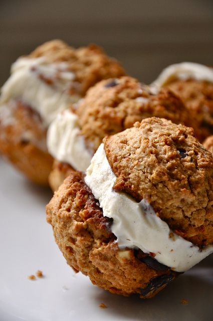 Oatmeal-Peanut Butter Ice Cream Sandwiches