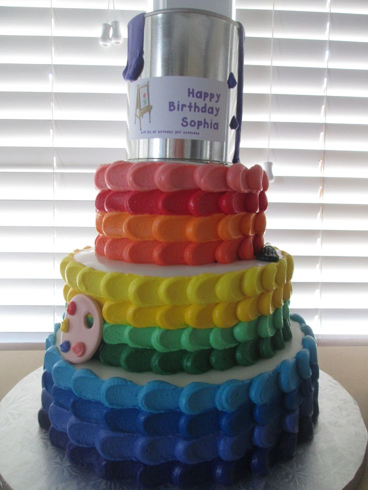 Art Themed Cake : Art Themed Cake Art party Pinterest