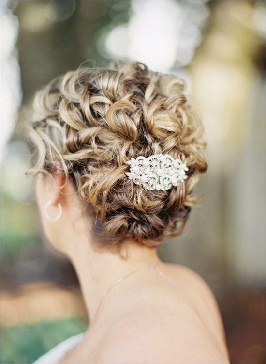 pretty wedding hair ideas #updo #weddinghairpiece #weddingchicks http://www.weddingchicks.com/2014/01/13/summertime-country-wedding/