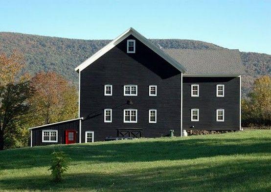 painted black farm house architecture pinterest