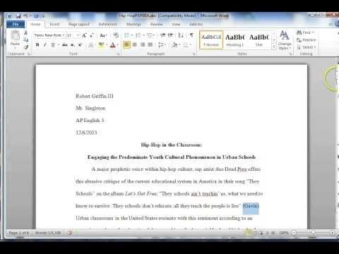 short story in essay mla