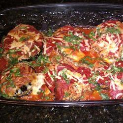 meatless mondays! Healthier Eggplant Parmesan II