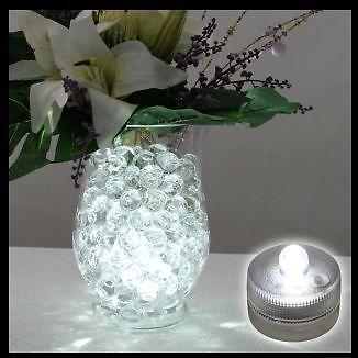 10 led decoration vase mariage Luxe centre de table etanche blanc bla ...