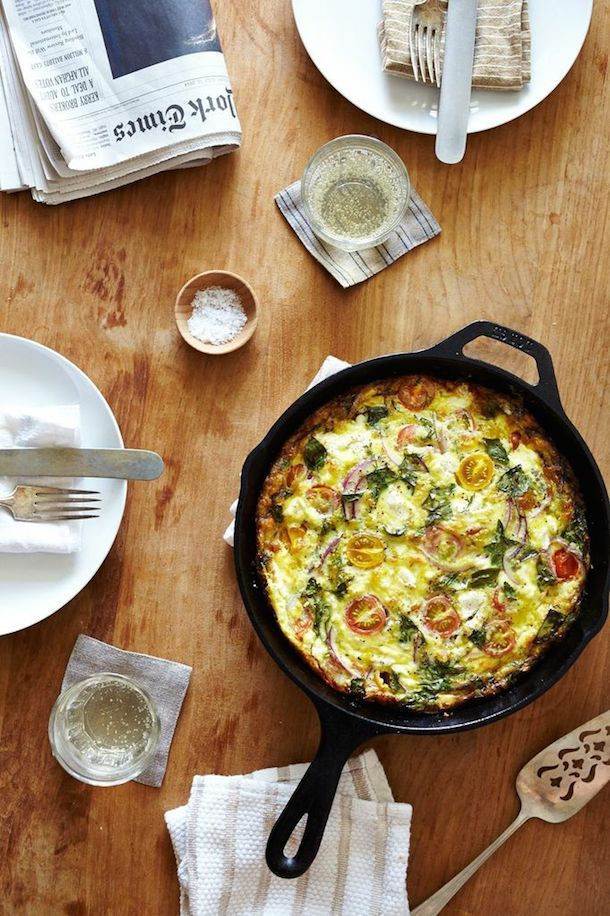 Perfect #breakfast on a July day! #GlutenFree Heirloom Summer Herb Frittata