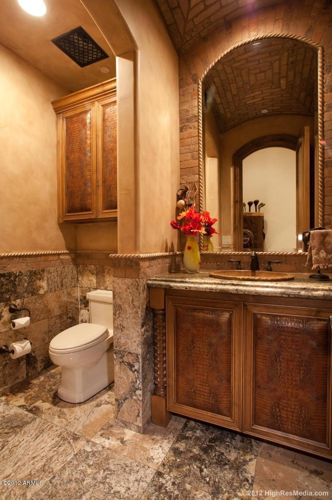 Magnificent tuscan style mansion in scottsdale arizona Tuscan style bathroom ideas