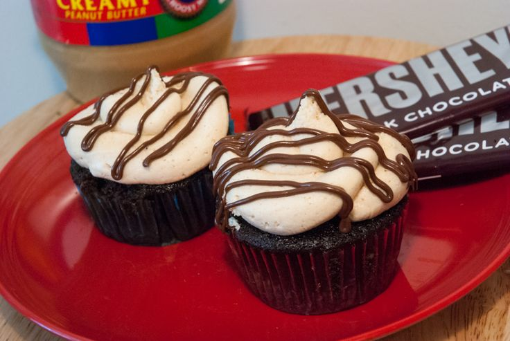 Chocolate-Peanut Butter Mousse Filled Cupcakes w/ Peanut Butter ...
