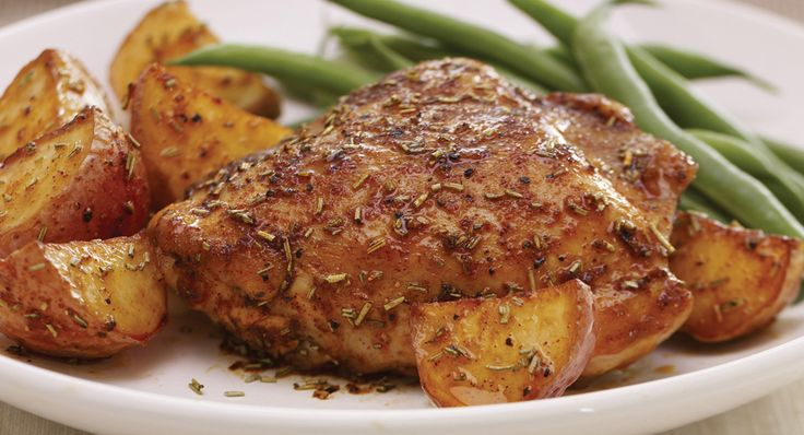 Rosemary and Lemon Roasted Chicken with Potatoes - try this tonight ...