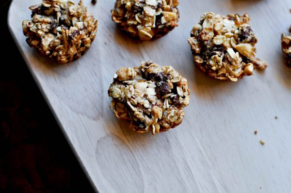 chocolate peanut butter granola bites, delicious on the go or mixed in ...