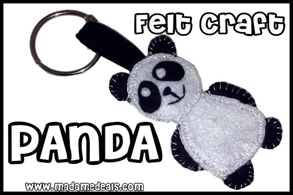 Felt Craft Projects: Learn how to make a cool Panda Craft http://madamedeals.com/felt-craft-projects-panda-crafts/ #crafts #inspireothers