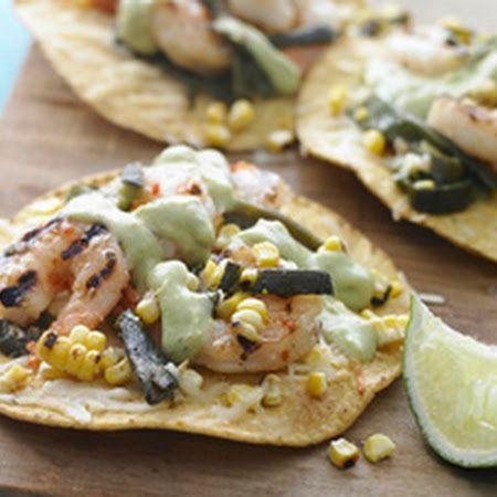 Grilled Shrimp Tostadas! #crunch #shrimp #tostadas #seafood #fresh