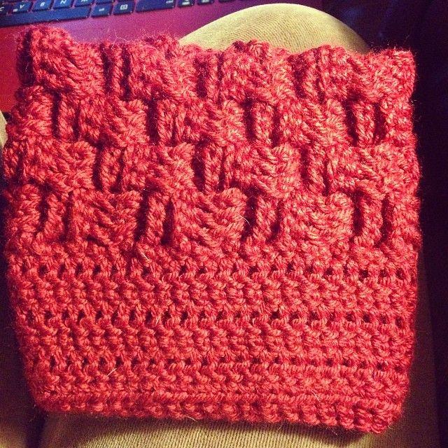 Basket Weave Crochet Patterns Free : Basket weave boot cuffs free pattern crochet