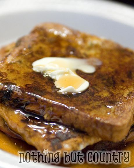 Raisin Cinnamon Swirl Bread French Toast http://www.nothingbutcountry ...