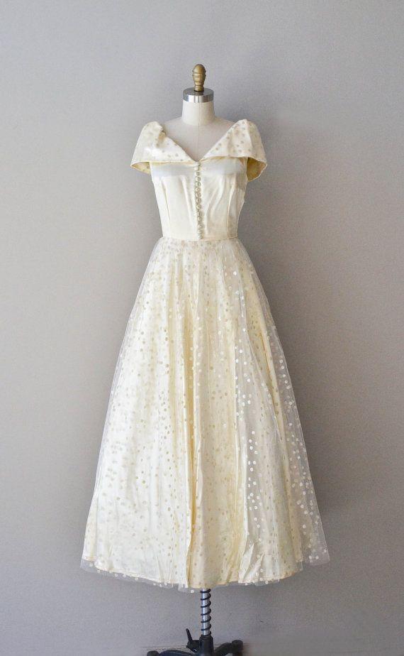 Phosphenes Tulle Dress Vintage 1950s Wedding Dress