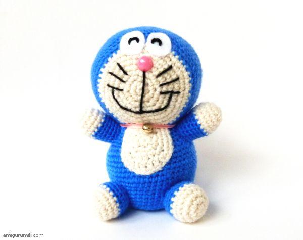 Amigurumi cat Doraemon (Doraemon) - Knitting scheme