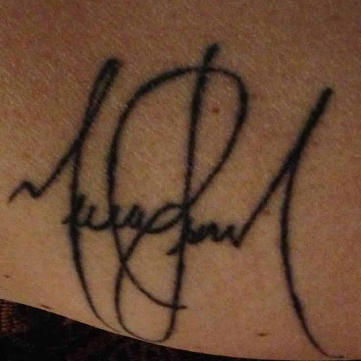 Michael Jackson autograph tattoo | tattoo/piercings ...