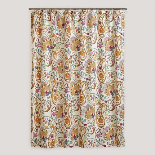 Paisley Floral Shower Curtain Dream Home Pinterest