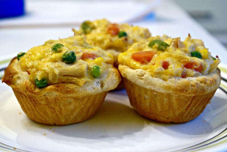 Chicken pot pie cupcakes | Foodie | Pinterest
