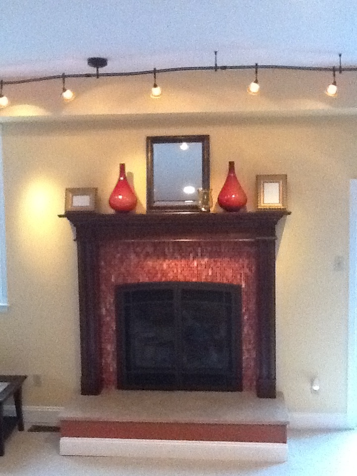 Fireplace With Glass Tiles Fireplace Pinterest