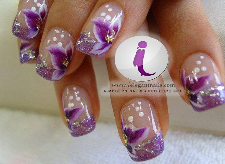 Purple nail art | Nail Art in Green Bay Nail Salon | Pinterest