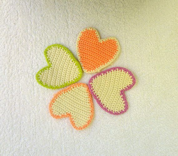 Crochet hearts home decor valentines gift gift by KnitterPrincess, $16 ...