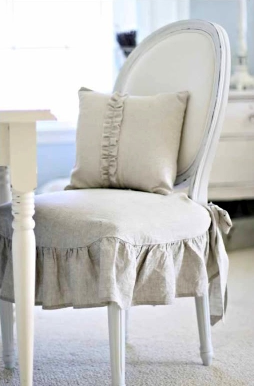 chair with linen seat cover chair cover pinterest