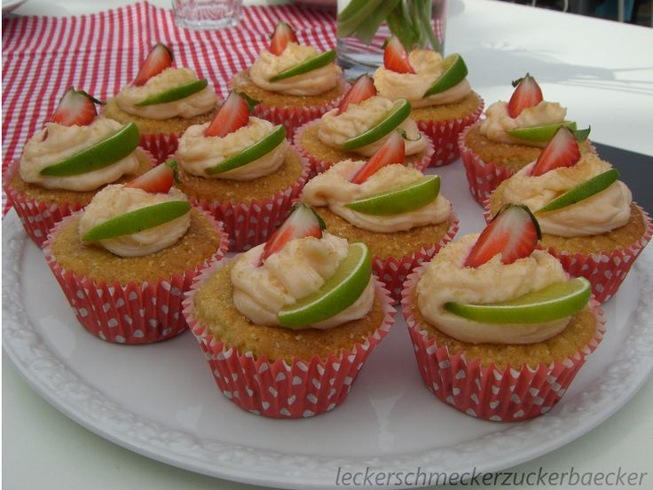 erdbeer daiquiri cupcakes inamiasallerlei pinterest